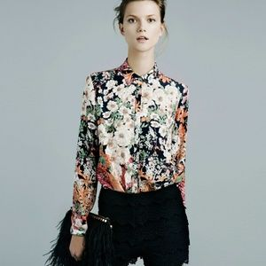Just In⌚Zara Floral Print Blouse